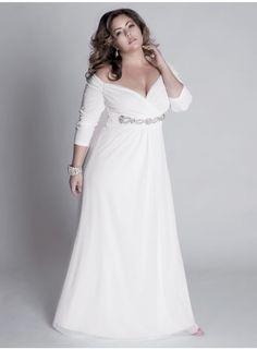 Classic V-Neck Dress | Plus size dresses, Sleeve and Fabulous dresses