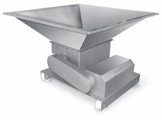 Fatiador de Frango, utilizado para fabricação de empanados, feito inteiramente em Aço Inox, com 24 Discos de Corte, Inclui Quadro de Comando.