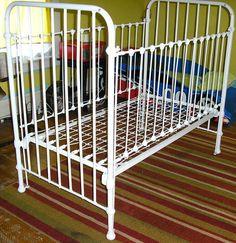 Antique Victorian cast iron crib dog bed by ChloeandNatalieVtg, $750.00
