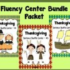This fluency center BUNDLE PACKET is Thanksgiving themed and is aligned with 1st, 2nd, and 3rd Common Core Standards.  This bundle packet contains ...