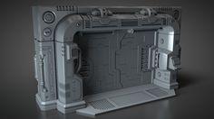 Cinema 4D – Modeling a Sci-Fi Blast Door Tutorial
