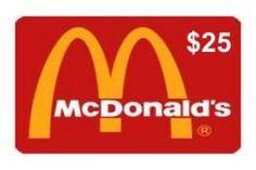 $25 McDonald's Gift Card