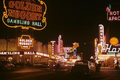 Image 1 of 8 from gallery of Light Matters: A Flash Back to the Glittering Age of Las Vegas at the Neon Museum. Fremont Street at night in Downtown Las Vegas in Image © Edward N. Edstrom (Public Domain via Wikimedia) Mega Series, Neon Museum, Fremont Street, Las Vegas Nevada, Vegas Casino, Travel Advice, Vacation, Architecture, Golden Nugget