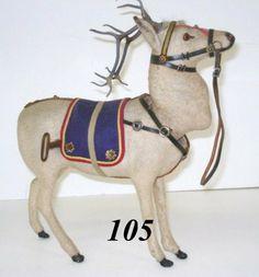 1105: Wind-up German Reindeer : Lot 1105