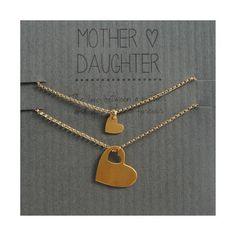 Mother Daughter Bracelet Set gold hearts For Addi's first day of Kindergarten: