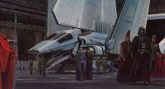 Ralph McQuarrie - Star Wars Return of the Jedi Ralph Mcquarrie, Star Wars Wallpaper, Of Wallpaper, Star Wars Darth, Darth Vader, Star Trek, Geeks, Science Fiction, Nave Star Wars