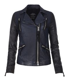 Love the Moto nod in the styling. So perfect. AllSaints Level Leather Biker Jacket, $768