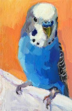 Daily Paintworks - - Original Fine Art for Sale - © Katya Minkina Bird Drawings, Cool Art Drawings, Afrique Art, Mini Canvas Art, Pastel Art, Mellow Yellow, Animal Paintings, Bird Art, Cat Art