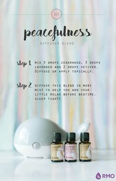 Can't relax at night? This essential oil diffuser blend, Peacefulness, helps create a calming environment that will leave you ready for dreamland! Peacefulness combines the calming properties of Cedarwood and Lavender, and mixes them with Vetiver's grounding aroma known to soothe the senses.