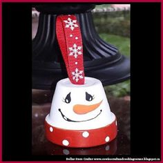 Dollar Store Crafter: Snowman Clay Pot Ornament