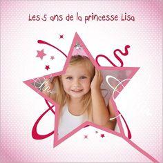 Carte invitation anniversaire princesse à personnaliser sur http://www.popcarte.com/cartes-flash/carte-anniversaire/carte-invitation-anniversaire-princesse.html. Disponible en 4 formats à partir de 0.62€ sur Popcarte.com