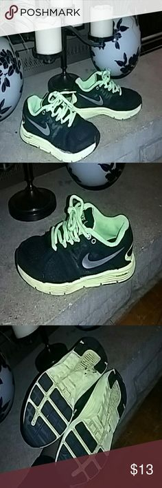 Childrens Boys Nike shoes Good condition kid shoes are black and neon green Nike Shoes Sneakers