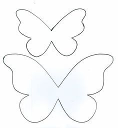tinker more and more: great ideas for a butterfly party . - tinker more and more: great ideas for a butterfly party …, - Bow Template, Butterfly Template, Flower Template, Heart Template, Felt Crafts, Diy And Crafts, Crafts For Kids, Arts And Crafts, Felt Flowers