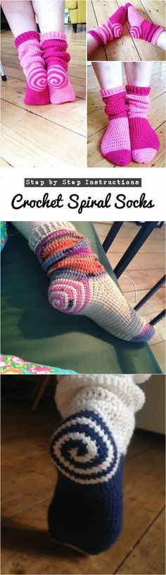 Crochet Spiral Socks