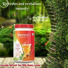 Shop Incredio ReFresh Tea Honey Lemon from Cureka, the most popular online destinations for buying home health care products, medical equipments, pain management and supplements and many more herbal and ayurvedic products. Natural Fat Burners, Home Health Care, Green Tea Extract, Honey Lemon, Boost Metabolism, Healthy Drinks, Superfood, Herbalism, Tea Cups