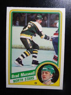 1984 O-Pee-Chee #102 Brad Maxwell Minnesota North Stars Hockey Card #OPeeChee #MinnesotaNorthStars