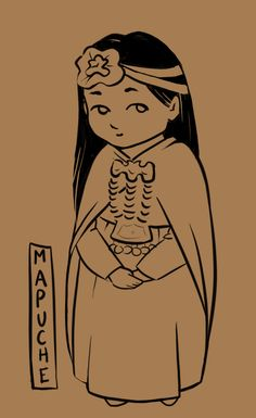 illustration i just started. Mapuche girl... I just need to color it now