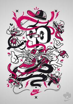Nike x Dxtr / On the run by DXTR - The Weird, via Flickr
