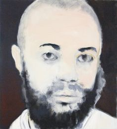 Marlene Dumas, The neighbour. This portrait  of Mohammed B., the killer of Theo van Gogh, is her most well-known in the Netherlands.