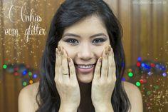 Unhas com glitter Blog das irmãs