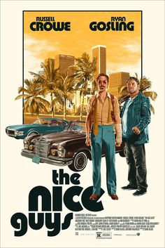 New Poster Release: THE NICE GUYS by Matthew Woodson – Mondo