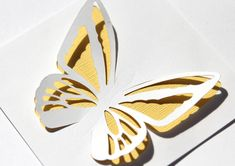 Butterfly cut out cards from the Pazzles Craft Room. Learn how to make your butterfly die cuts pop off the paper.