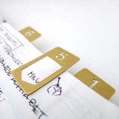 BRASS Number Clip use for organizing your paperwork in your office