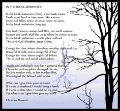 In the Bleak Midwinter by Christina Rossetti (graphic by Stephen Brooke)
