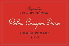 Palm Canyon Drive (Plus Extras!) by RetroSupply Co. on Creative Market
