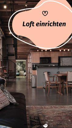 Ein Loft einrichten geht gar nicht so einfach! Wohnbereich, Bett, Küche und Schreibtisch in einem Raum? Wir zeigen Dir, wie Du mit verblüffenden Tricks und cleveren Ideen Deine Einzimmerwohnung in ein kreatives und funktionales Loft mit Flair verwandelst. Tricks, Industrial, Dividing Wall, Big Sofas, One Room Flat, Living Area, Remodels, Table Desk, Industrial Music