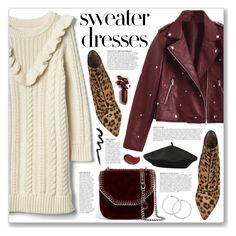 """""""Cozy and Cute: Sweater Dresses"""" by myduza-and-koteczka ❤ liked on Polyvore featuring LAQA & Co., Tabitha Simmons, Anja, STELLA McCARTNEY, M&Co and Smashbox"""