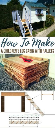 How To Make a Children's Log Cabin with Pallets - While a treehouse is simple and fun, you can take it up a notch with a DIY kid-sized cabin! This tutorial calls for mostly pallet boards and other reclaimed material for a sturdy, cute cabin that is not only fun to build, but is sure to be enjoyed by generations to come. Images by MagicManu/instructibles.com