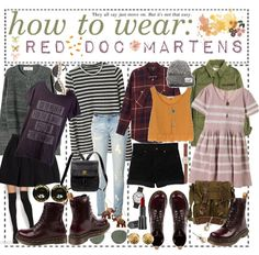 How to wear: red Doc Martens