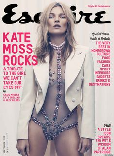 #Fashion #cover Kate Moss for Esquire UK August by Craig McDean.  www.modamodamdoa.com.br