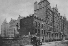 """Rowton House """"An Hotel for Working Men"""" at Arlington Road, Camden Town, mid 1930s."""