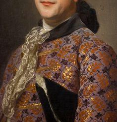 Alexander Roslin. Detail from Portrait of Prince Vladimir Golitsyn Borisovtj, 18th Century.