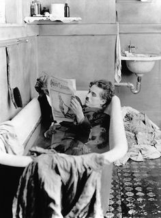 Charlie Chaplin, on the set of Pay Day, 1922.