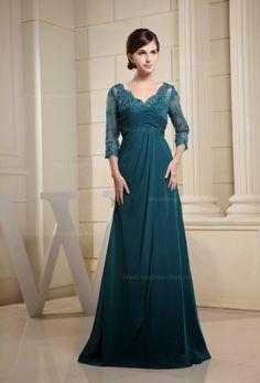 ღ♥♥ღ Fashion Is Life ღ♥♥ღ: Long Dark Green Prom Dress