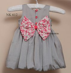 To place order DM us or whatsapp on 6394837380 Girls Frock Design, Kids Frocks Design, Baby Frocks Designs, Baby Dress Design, Baby Girl Frocks, Frocks For Girls, Dresses Kids Girl, Baby Dresses, Frock Patterns