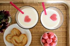 Valentine's Day recipe: pink milk cubes