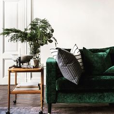 We have a bit of a crush with velvet in our April issue - moody and regal - who doesn't?