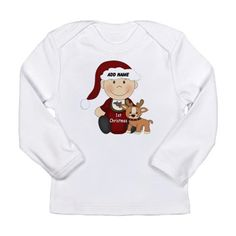 1st Christmas Long Sleeve T-Shirt #baby #first christmas #infant #baby first christmas #reindeer #cupcake #1st christmas #babies 1st christmas #1st christmas #holiday #graphic design gifts and clothings for babies