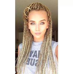 Wyt girl with braids....i like it! Blonde White Girl, White Girl Braids, Blonde Box Braids, Girls Braids, White Girls, Black Braids, White Women, Box Braids Hairstyles For Black Women, Crochet Braids Hairstyles