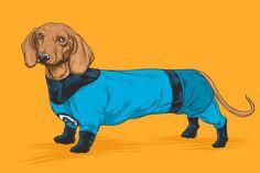 Personagens da Marvel em versão canina, por Josh Lynch - Conseguimos reunir em um só post duas coisas que amamos: personagens da Marvel e cachorros. A ideia inusitada é do ilustrador Josh Lynch, que de ...