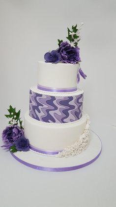 Purple waves by Tascha's Cakes - http://cakesdecor.com/cakes/240161-purple-waves