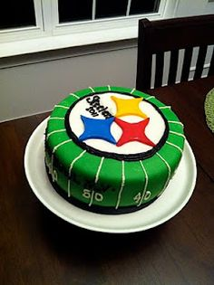 Steelers Cake -- groom's cake...guess it could be the stupid broncos