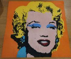Wahol Marilyn giant hama bead creation