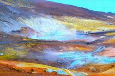 The geothermal area Krýsuvík, Iceland.
