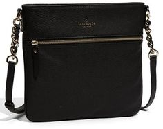 $248, New York Cobble Hill Ellen Leather Crossbody Bag by Kate Spade. Sold by Nordstrom. Click for more info: http://lookastic.com/women/shop_items/171983/redirect