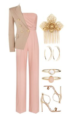"""Keep It Classy"" by mrs-rc ❤ liked on Polyvore featuring Aquazzura, Lana, Miriam Haskell, Reiss, Balmain and Accessorize"